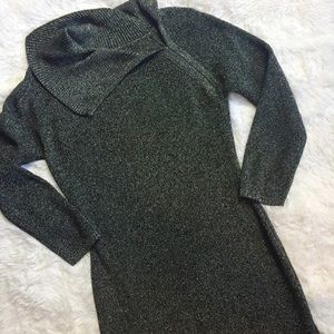 Calvin Klein Metallic Sweater Dress